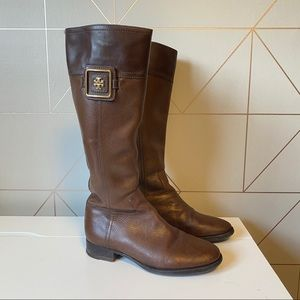 Tory Burch Julian Leather Riding Boots